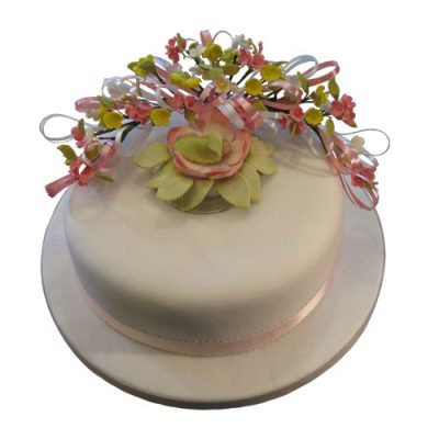 Baby In The Blossom Cake