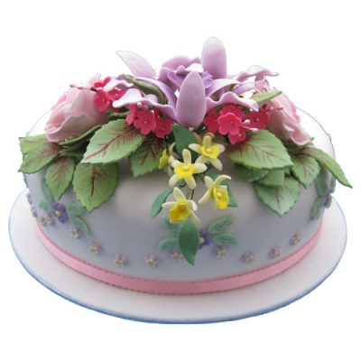 Celebration Cake Rose Orchid Blossoms