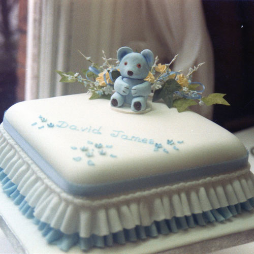 Christening Cake Blue Bear