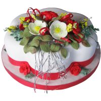 Christmas Cakes Hellebores Roses Blossoms