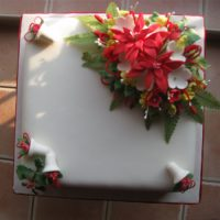 Christmas Cakes Poinsettia and Bells