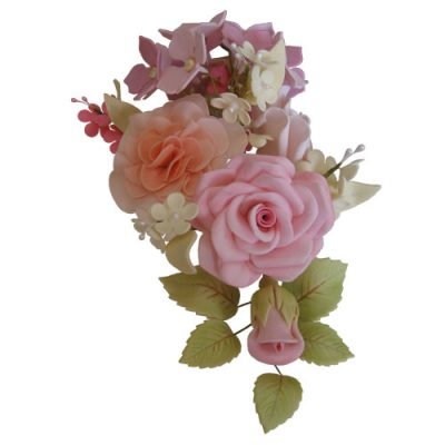 Mixed Rose and Sugar Flower Spray