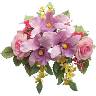 Orchids and Roses Sugar Flower Spray