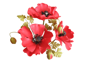 Sugar Gum Paste Poppies