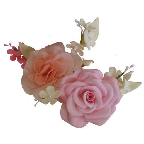 Rose and Carnation Sugar Flower Spray