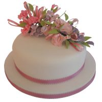 Single Tier Sweetpea Cake