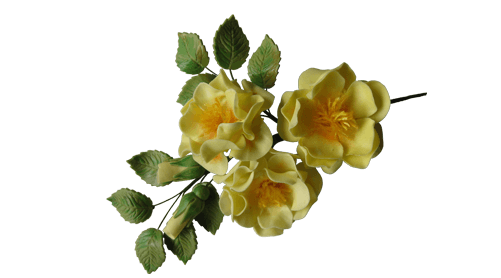 Sugar Gum Paste Yellow Open Rose