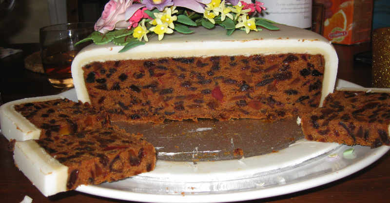 Cut Fruit Cake