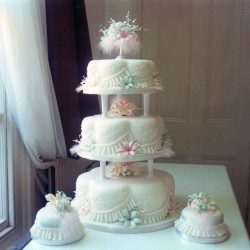 3 Tier Wedding Cake Lillie and Feathers