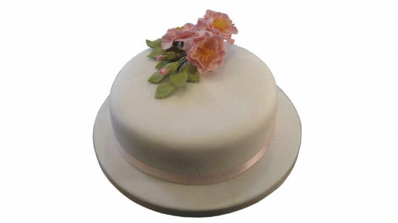 Fondant Covered Celebration Cake