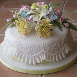 Celebration Cake Blossoms Bells Orchids