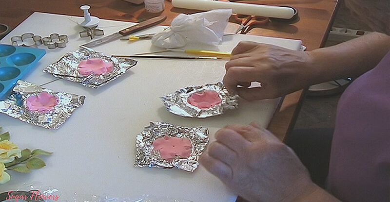 Gumpaste Open Rose Petals for Assembly